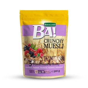Bakalland BA! Crunchy Muesli 5 Forest Fruits 300 gram