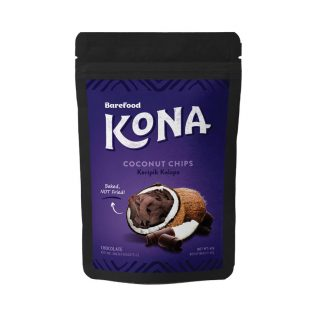 Barefood KONA Coconut Chips Chocolate 60 gram