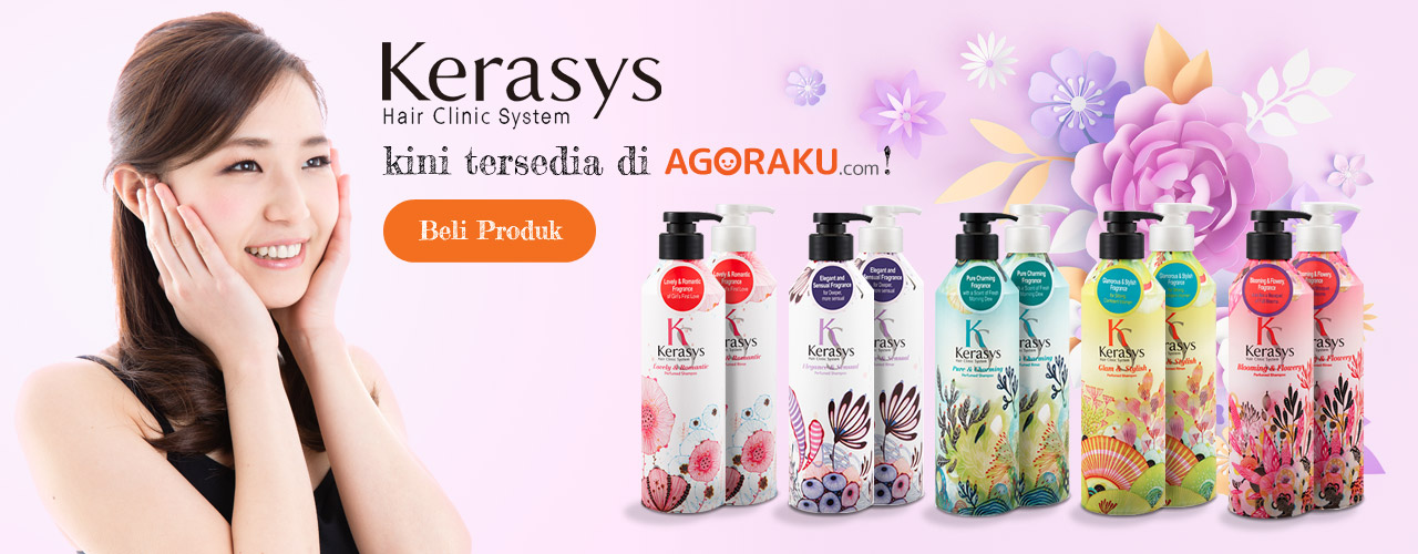 Kerasys Perfumed Shampoo & Kerasys Perfumed Rinse are now available at Agoraku.com