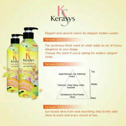 Kerasys Perfumed Shampoo Glam & Stylish 600 ml & Kerasys Perfumed Rinse Glam & Stylish 600 ml