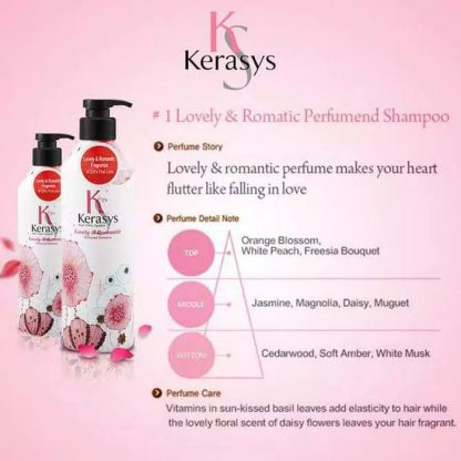 Kerasys Perfumed Shampoo Lovely & Romantic 600ml & Kerasys Perfumed Rinse Lovely & Romantic 600ml