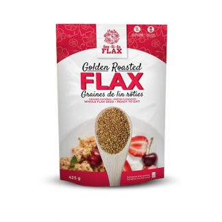 Fee Fi Fo Flax - Golden Roasted Flax - Whole Flax Seed - 425 gram
